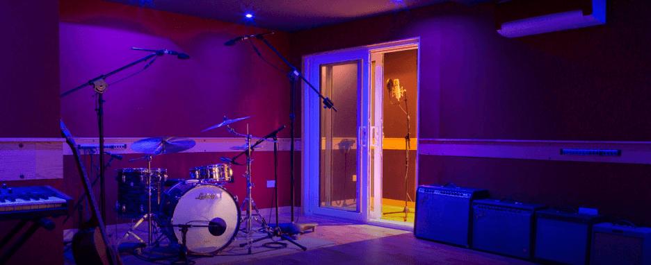 Drum kit in Music Studio East London