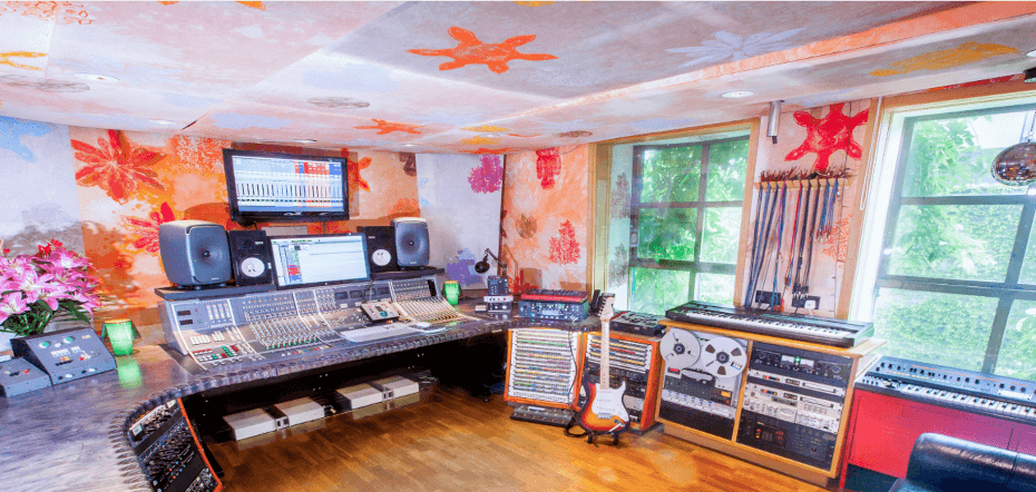 Colourful recording studio east london