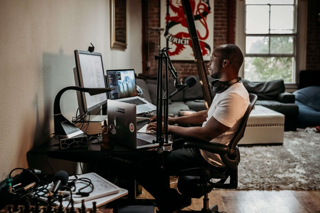 Podcast Equipment Set Up