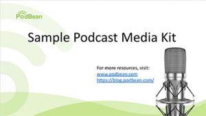 image of sample Podcast media kit